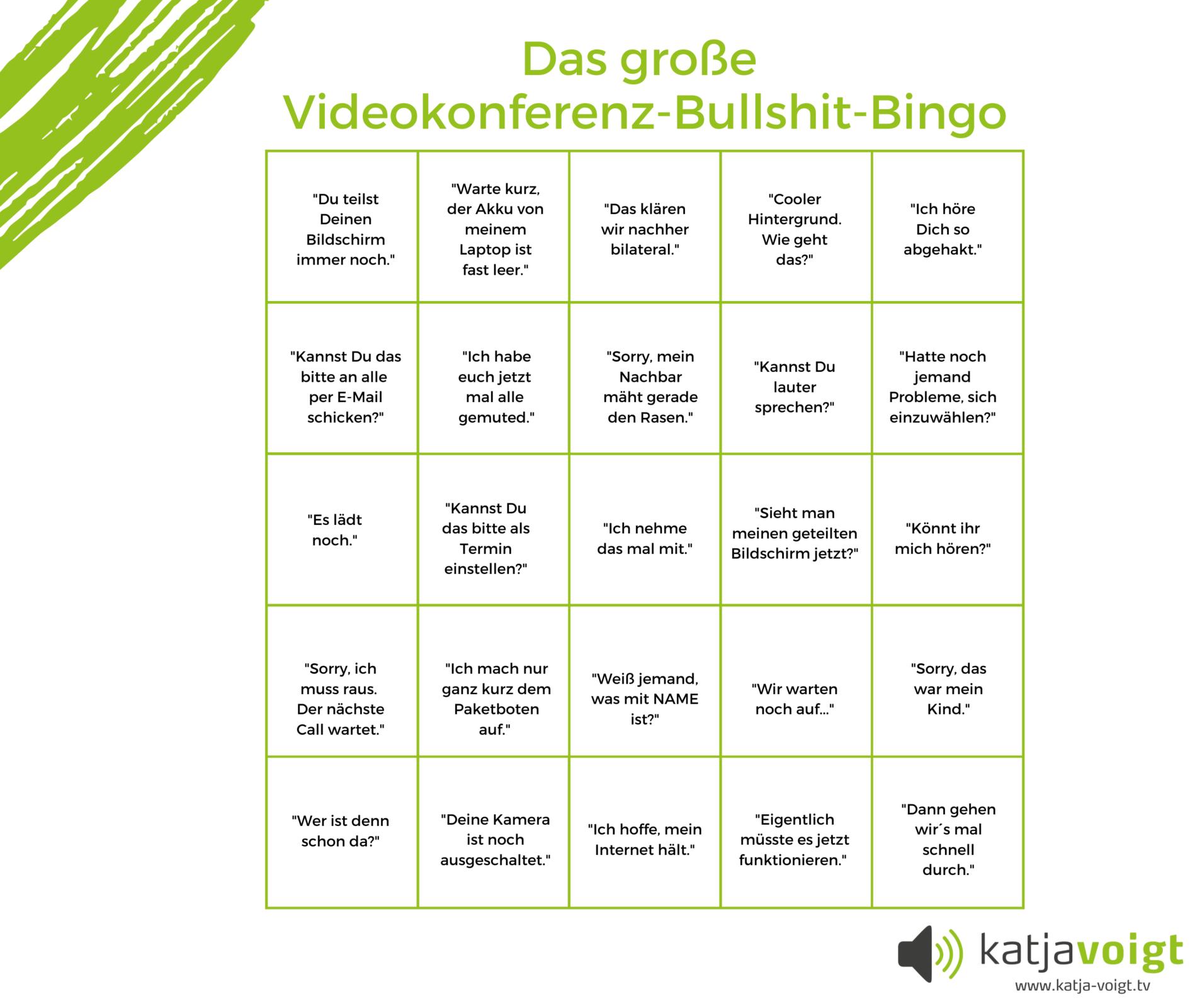 Videokonferenz-Bullshit-Bingo